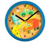 Часы Hama H-106933 настенные Car детские аналоговые диаметр 20.8 см пластик/стекло узор/синий
