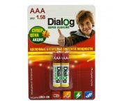 Батарейки Dialog AAA 2 шт. [LR03-2B]