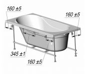 Каркас для ванны Ventospa Serena LA 170х70
