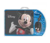 Набор (мышь+коврик) Cirkuit Planet DSY-TP3001 Mickey, USB, 1000 dpi