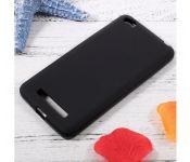 Чехол силиконовый без бренда для XIAOMI Redmi 4A, тонкий, непрозрачный, цвет: чёрный