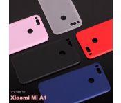 Чехол силиконовый без бренда для XIAOMI Mi5X, тонкий, непрозрачный, глянцевый, цвет: красный