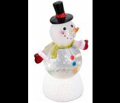 Снеговик - Светофор (NY6011), наполнен жидкостью с блесками, подсветка, пит. от USB