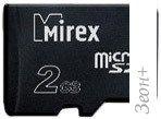 Карта памяти Mirex microSD (Class 4) 2GB (13612-MCROSD02)