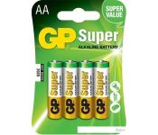 Батарейки GP Super Alkaline AA 4 шт.