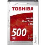 Жесткий диск Toshiba L200 Slim 500GB [HDWK105UZSVA]