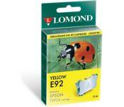 Картридж струйный Lomond T09244A yellow for Epson C91/CX4300 (L0202780)