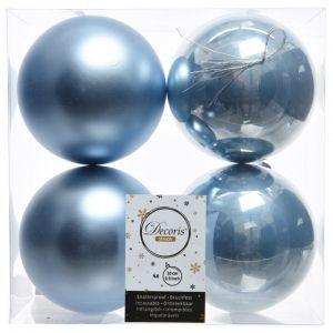 Kaemingk Набор шаров 100mm 4шт Soft Blue 022252