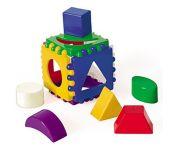 Логический куб маленький 8х8 см Рыжий кот И-3928