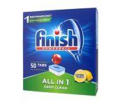 Таблетки для посудомоечных машин Finish All in 1 Лимон 50 шт.
