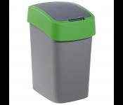 Конт. для мусора PACIFIC FLIP BIN 25L , серый/зеленый