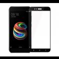 Защитное стекло 4D (полностью клеится) для Xiaomi Mi A1 / Mi 5X (тех.пак.), черное