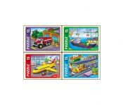 Пазлы 12 элементов. Нужный транспорт Рыжий кот П12-5642