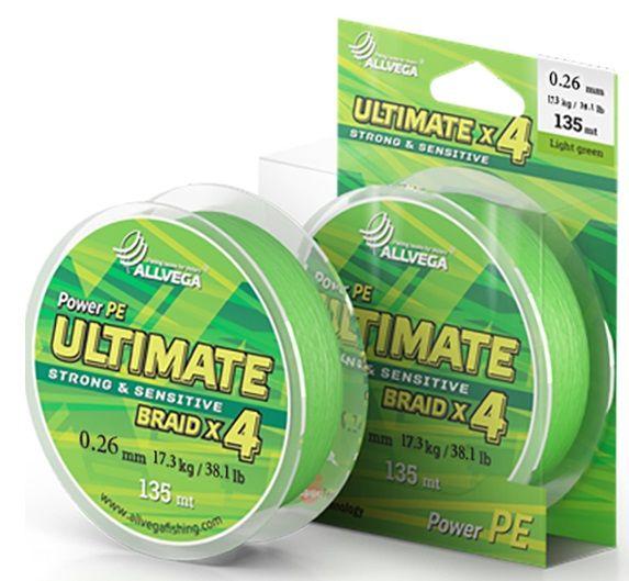 Леска Allvega Ultimate 0.26mm 135m 17.3kg Light Green U135LGR026