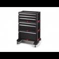 Ящик для инструментов SET 6 DRAWER, 6 ящиков, чёрный