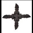 """AD 7204 Соединение крестовое 1/4"""" для трубки"""
