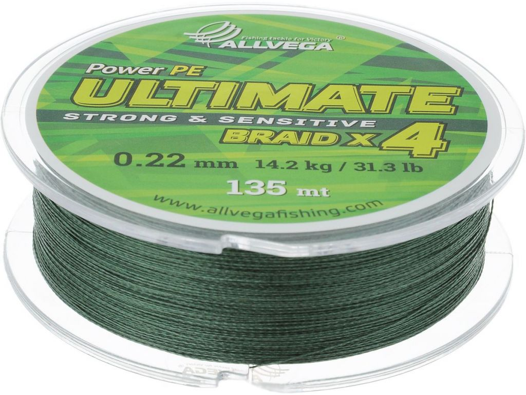 Леска Allvega Ultimate 0.22mm 135m 14.2kg Dark Green U135DGR022