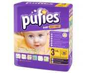 Подгузники детские Pufies Baby Art&Dry Midi 20 (4-9 кг)