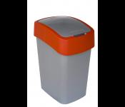 Конт. для мусора PACIFIC FLIP BIN 25L, серый/красный