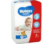 Детские одноразовые подгузники Huggies Classic Small 3 (4-9кг)*16 шт.