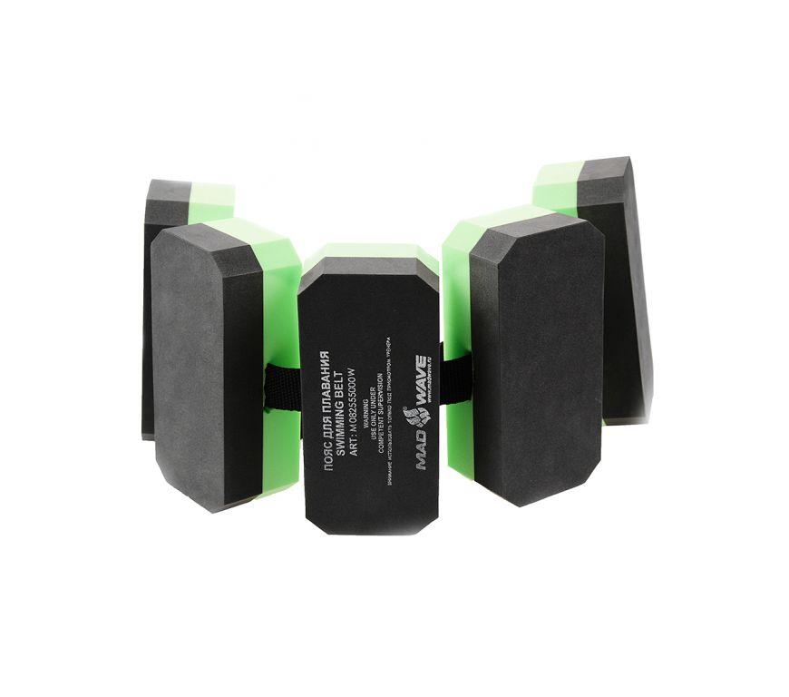Пояс для обучения плаванию Mad Wave Black-Green M0825 55 0 00W
