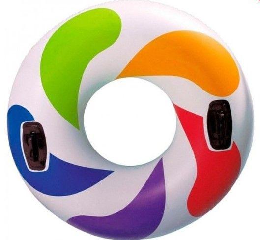 Круг для плавания Intex Цветной Водоворот 58202