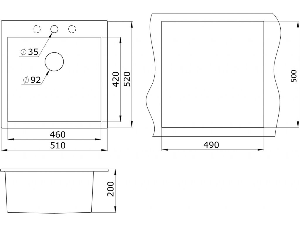 Кухонная мойка Granula GR-5102