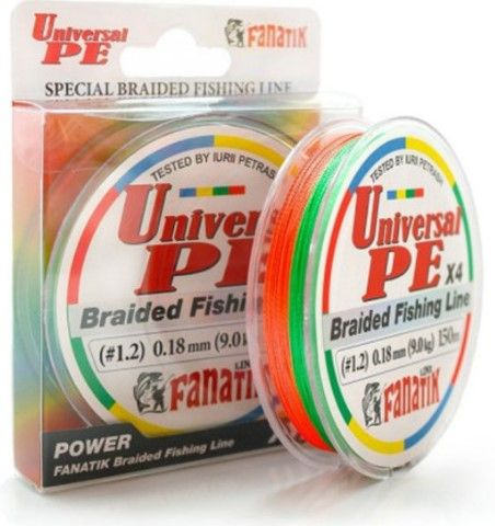 Леска Fanatik Universal PE X4 (#1,2) 0.18mm 150m UNPEX415012C