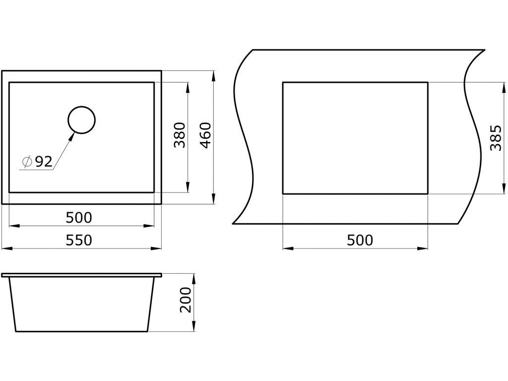 Кухонная мойка Granula GR-5551