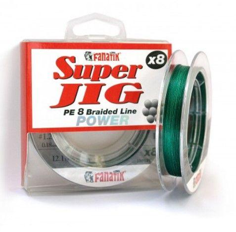 Леска Fanatik Super Jig PE X8 (#1,2) 0.18mm 100m Green SJPEX810012G