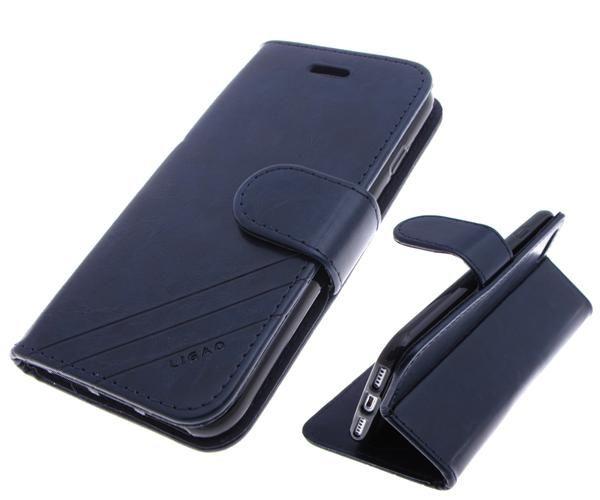 Чехол-книга Ligao Xiaomi Redmi 4a  с силиконовым основанием и магнитом,  темно-синий