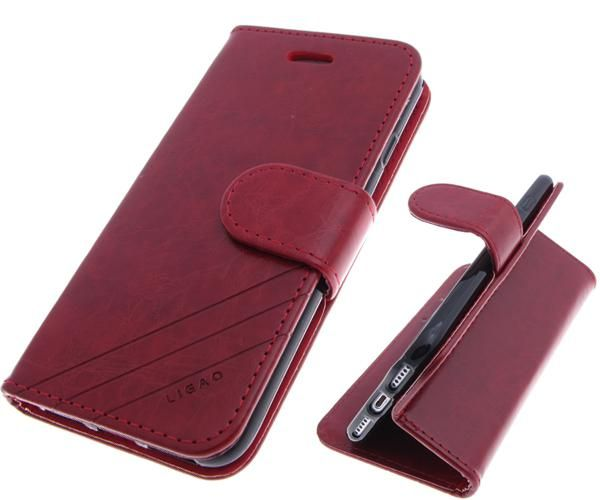 Чехол-книга Ligao Xiaomi Redmi Note 4X  с силиконовым основанием и магнитом,  красный