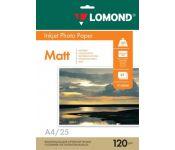 Фотобумага Lomond 0102030 A4/120г/м2/25л./белый матовое для струйной печати