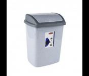 Контейнер для мусора DOMINIK 10L, серый люкс/гранит.