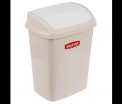 Контейнер для мусора DOMINIK 10L, бежевый люкс.