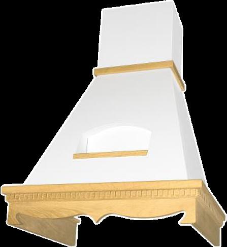 Вытяжка каминная Elikor Бельведер 60П-650-П3Д бежевый/дуб неокрашенный