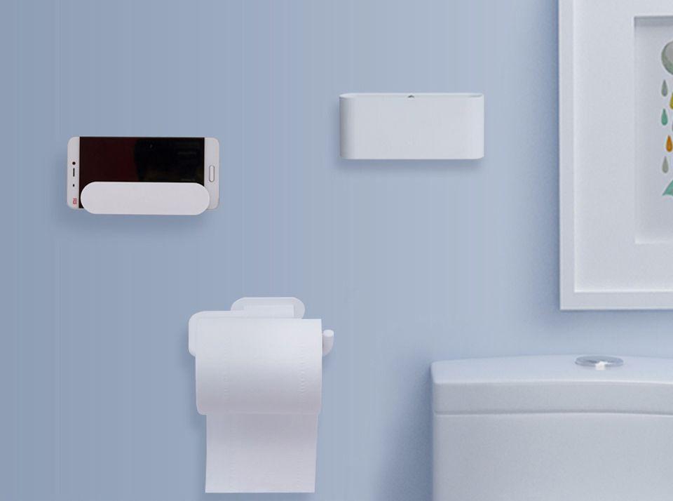 Набор настенных держателей для ванной комнаты Xiaomi Happy Life Bathroom Set (5 пр. белый)