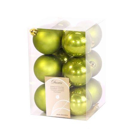 Елочные игрушки Kaemingk Набор шаров Olive 021976