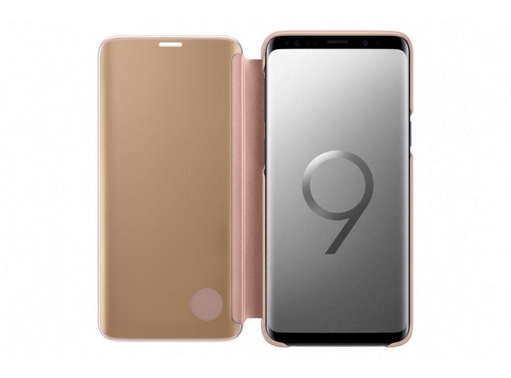 Чехол (флип-кейс) Samsung для Samsung Galaxy S9 Clear View Standing Cover золотистый (EF-ZG960CFEGRU)