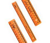 Линейка Стамм Cristal Neon ЛН62 пластик дл.25см оранжевый/прозрачный закройщика Мин. заказ: 20