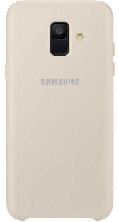 Чехол (клип-кейс) Samsung для Samsung Galaxy A6 (2018) Dual Layer Cover золотистый (EF-PA600CFEGRU)