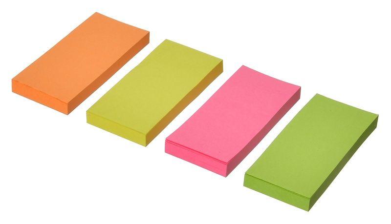Закладки самокл. бумажные Silwerhof 682006 50x23мм 4цв.в упак. 50лист