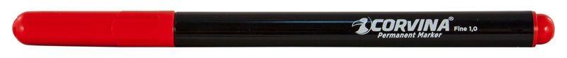 Маркер перманентный Corvina 42953/03 круглый пиш. наконечник 1мм без клипа красный