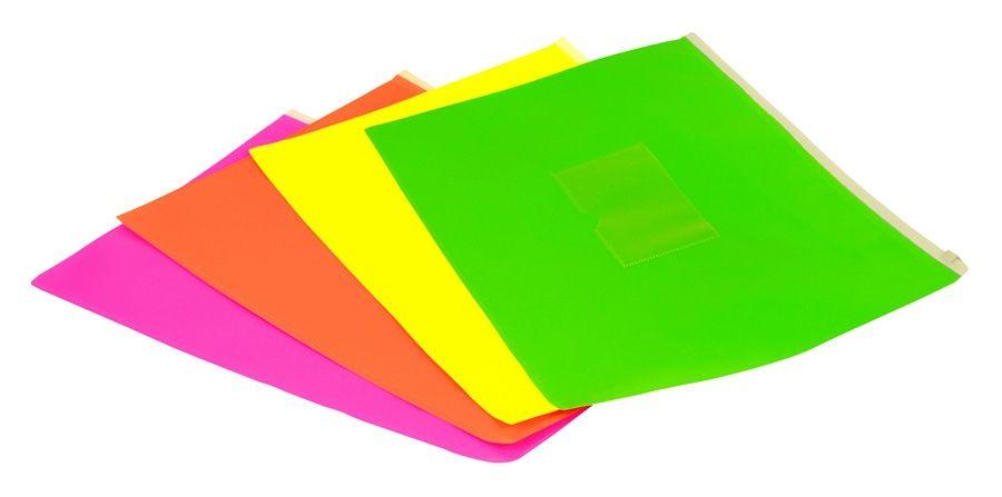 Папка на молнии ZIP Бюрократ Double Neon DNEBPM5AYEL A5 полипропилен желтый карм.для визит. цвет молнии белый