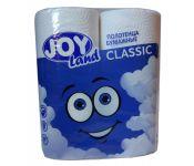 Полотенца бумажные Joy Land бытовая 12м 50лист. белый (упак.:2рул) (ПЦ1-Д2Б2-110)