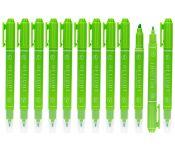 Текстовыделитель Deli EU011-GN двойной пиш. наконечник 1-4мм зеленый Мин. заказ: 12