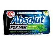 Мыло Absolut For Men туалетное 90гр лемонграсс/мята кусковое