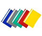 Папка-скоросшиватель Бюрократ Economy PSE20/1 A4 прозрач.верх.лист пластик ассорти