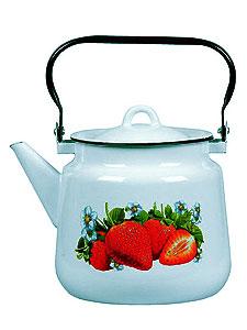 Чайник 3,5л 1с26с Клубника садовая,серо-гол.