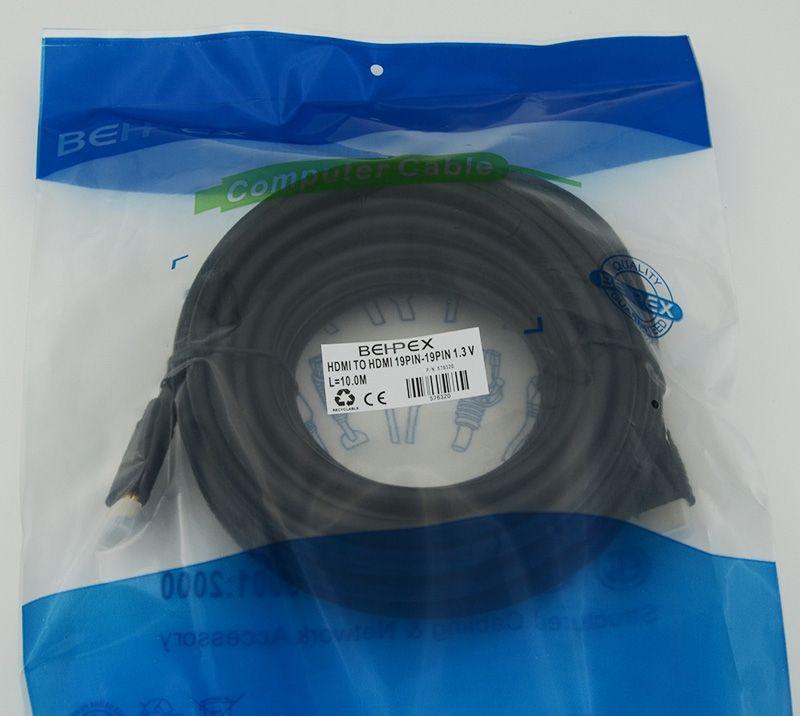 Кабель аудио-видео HDMI (m)/HDMI (m) 10м. черный